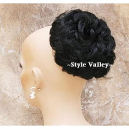 Wholesale Black Wig BUN Extension Hair Piece Synthetic Wigs Wig Hairpiece hair extensions hairdo