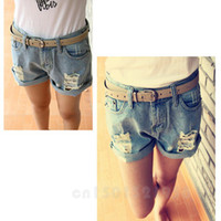 best colored denim - BEST WOMEN RETRO COLORED LOOSE CRIMPING DENIM SHORTS GWF