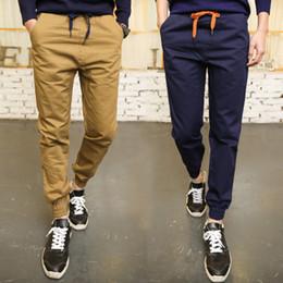 Wholesale- cargo pants Men Pants Fit Cotton jogger pants Mid Rise Leisure Men's Trousers khaki black navy