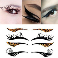 application eye liner - New fashionable designs pack eye liner stickers decorations eye art easiest application temporary Waterproof tattoo