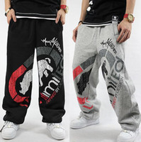Cheap Wholesale-2015 Autumn winter brand Rhino men skateboard pants cotton thin thick black grey Elastic M-3XL hip hop hiphop sweatpants man