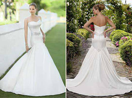 Wholesale 2012 No risk shopping Strapless A Line Wedding Dress Sweetheart Bridal Gown Mermaid Wedding Dresses