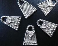 beaded handbag charms - 300pcs Tibetan silver beaded handbag charms A208