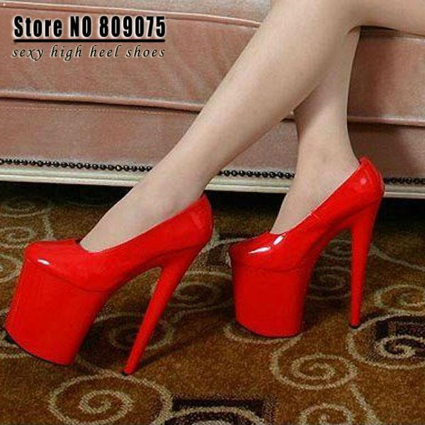Wholesale 8 Inch Womens Mary Jane Platform Pu Pumps 20cm Sexy