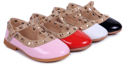 Wholesale-2015 Children Shoes Candy Color Cute Princess Shoes For Kids Brand Girls Rivet Studded Toddlers Gladiator Flat Walking Sandals