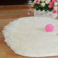 bedroom floor covering - New Brand New Soft Heart Design White Shaggy Carpet Bedroom Fluffy Mat Rug Fake Faux Fur Carpet Floor Cover Decoration G187
