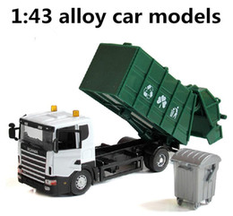 Wholesale Engineering vehicles alloy garbage truck Diecast cars Toy Vehicles children best gift