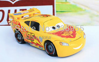 Wholesale Pixar cars Diecast Limited edition Yellow Lightning Mack Metal Toy Car Loose toys NEW