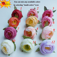 craft supplies - Artificial Flowers Silk Camellia Tea Rose Heads Decorative Flowers DIY Craft Supplies Of Wreath flores artificiais