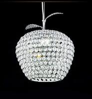 Wholesale new best selling apple shaped crystal chandeliers bedroom Restaurant Bar V V E27 LED Crystal Light