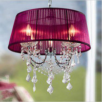 Wholesale Modern fabric chandelier Rural style crystal lighting also for PL085