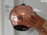 ball engineering - Rose lighting lamps rose gold round ball engineering glass pendant light