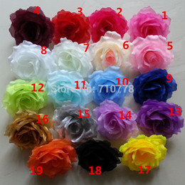 19colors gros-11cm artificiels têtes de fleurs de tissu de soie rose fleur arc vigne fleurs de mariage décoration accessoires de bricolage à partir de tissu rose têtes fabricateur