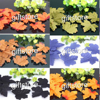 artificial maple leaves - Artificial Silk Maple Leaves Flower Petals Leaf Wedding Home Party Decorations