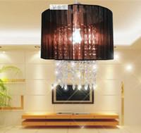 acrylic fabric - Tax exemption Top Sale Elegant black Fabric Modern Crystal Chandelier acrylic crystal lighting