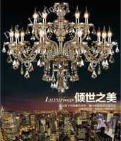 Wholesale Arm Fashion Large crystal chandelier lamp modern brief crystal chandelier lighting candle lighting lamps