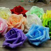 Wholesale CM Handmade colors Bag Foam Rose Artificial Flower Home Wedding Decoration Flowers Decoration For Wedding Car