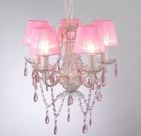 chandeliers - MINI chandelier PINK girls loving lamp NS P shade