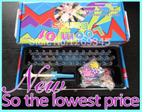 Venta al por mayor a 2015 nuevos 5400pcs con gancho de Orignal Knitting Tejer Telar familiares Bandas de caucho de silicona kits determinados recargas de bricolaje brazalete de 3 capas Box