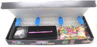 Venta al por mayor-Libre! 1200pcs / set Bandas Bandas Kits de juguete de regalo Loom Bandas de Diversión Telar de goma de la caja DIY pulseras del encanto coloridos niños!