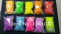 Cheap Wholesale-2015 New Diy glow in the dark cercle rubber loom bands (600pcs bands and 25pcs S-clip+1 hook )