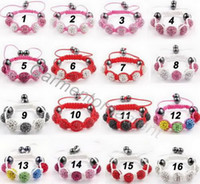 baby id bracelets - Min mix order colors kids baby shamballa bracelet with mm crystal disco ball woven rope cord child gift