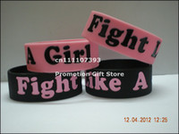 awareness silicone wristbands - Fight Like A Girl Breast Cancer Awareness Silicone Wristband Bracelet
