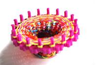Wholesale-5pcs / lot TELAR TABLAS variado tejido de telar de recarga de goma Loom pulseras Bandas que hace el kit telar Tejedor pulsera de regalo redondo
