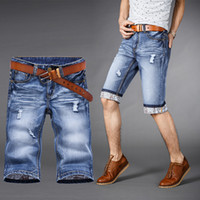 Cheap 2015 short men jeans jogger bermuda masculina ripped jeans for men casual cotton shorts Summer Denim short men sport Plus Size