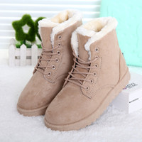 Wholesale Winter boots new casual women boots femininas snow boots cute warm shoes flat heels fur ankle boot for shoes woman