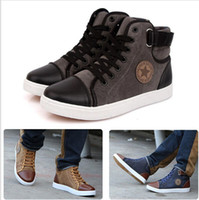 Wholesale New Spring Winter Sneakers Men Casual Canvas Shoes Fashion High Top Men Sneakers High Quality Flat Men Shoes