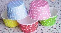 Wholesale Medium little round white cake cups cupcake cases cm cm multicolor