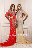 Cheap prom dress Best crystal neck