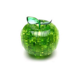 2pcs Novelty Gift !!! DIY Decoration 3D Apple Toy Crystal Puzzle Jigsaw ( China Post Air )