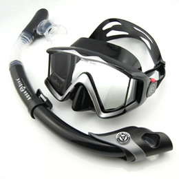 Wholesale Diving Masks Aqua dive windows wide angle mirror submersible full dry suction tube set snorkel submersible
