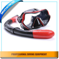 best snorkeling mask - Best quality silicone diving mask and full dry snorkel set for adult Underwater diving Spearfishing swimming snorkeling
