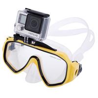 action sport equipment - Diving Mask Sports Swimming Glasses For Gopro Hero Xiaomi Yi SJ4000 SJ5000 SJ6000 Action Camera Scuba Diving Equipment