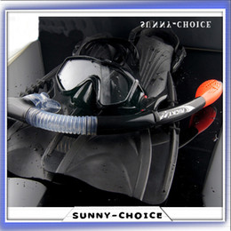 Wholesale Professional Diving Mask Snorkel Fin Sets Diving Equipment Flippers Swimming Spearfishing Scuba Full Dry Snorkel Fins Set