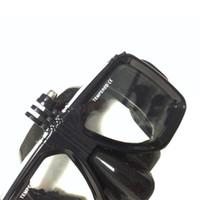 avi lens - Portable AV AVI scuba diving hold camera swim mask with glass lenses underwater video snorkeling mask