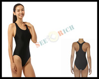 bargain suits - Bargain Women s Swimmers Elasticity One piece Swimming Suit With Breast Pad Competition Training Bathing Suit Big Yards