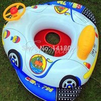 baby swimming aid - Kids Baby Inflatable Safty Soft Material Pool Swimming Ring Seat Float Aairplane style Boat aid with Wheel Horn