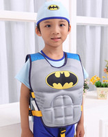 baby swimming jacket - Size baby boys children swimming life vest life jacket Superman Spider man Batman Buoyancy clothing cool for kids