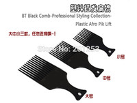 afro comb - Black Comb Professional Styling Collection Comb Brushes Plastic Afro Pik Lift Hair Brushes Comb Mix Size