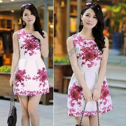 Wholesale-2015 Autumn-summer Women's Fashion Dresses Vintage Dress Women Chinese Porcelain Floral Print Vestidos Dress M L 10