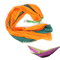 Wholesale Comfortable Nylon Hammock Hang Sleeping Bed Heavy Duty Double Size With Bag New