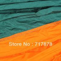 Gros-confortable Nylon Hammock Suspendre Sleeping Bed Heavy Duty Double Taille Avec expédition Sac New gratuit