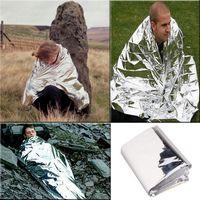 Wholesale Emergency Person Bivvy Sleeping Bag Heatsheets Camping Hiking Survival xCamping Outdoor Mylar Solar Thermal Sleeping Bag