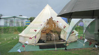 Wholesale M Canvas bell tent Cotton winter tent wall rolled up for outdoor camping
