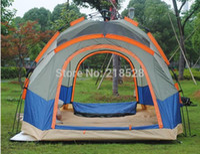 Wholesale person outdoor camping tent two bedrooms three doors waterproof camping tent outdoor tent