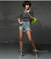 big cowgirl - Tassel High Waist Shorts Hole Cowgirl Blue Shorts Denim Shorts Big Size Feminino Shorts Jeans bermudas